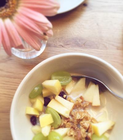 veganes Müsli zum Frühstück