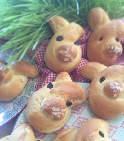 Veganer Hefeteig zu Ostern